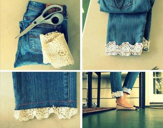 джинсы и кружево