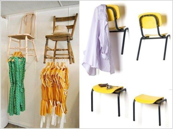 вешалки из старых стульев