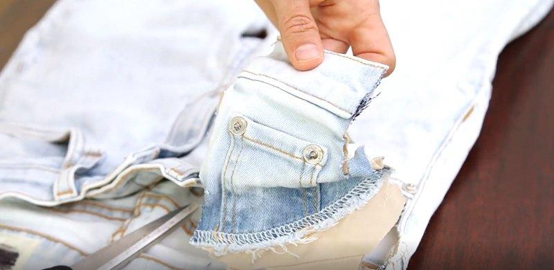 как перешить джинсы