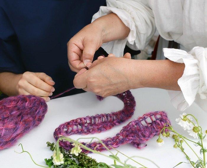 Старинная техника плетения на пальцах