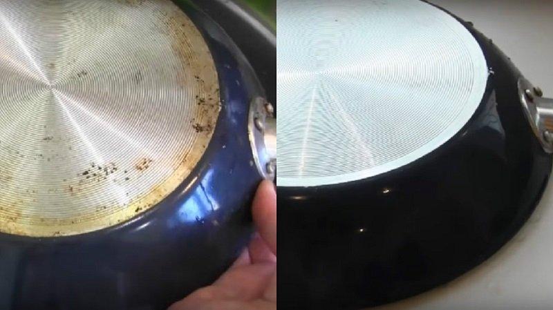 Старинный способ почистить сковородку от нагара и застывшего жира. Отменный результат без затрат!