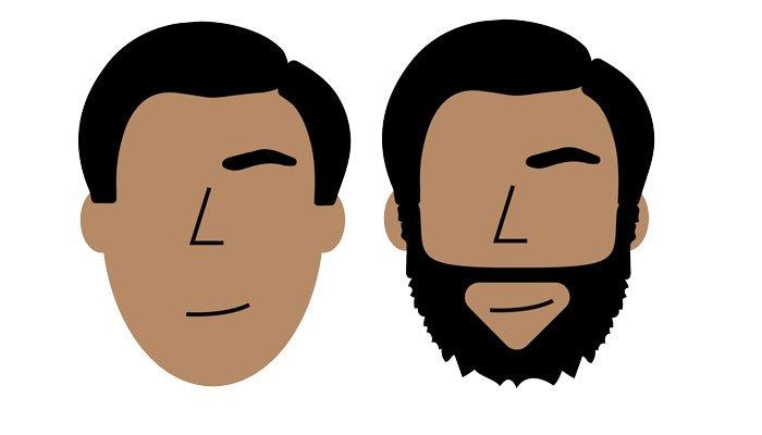 форма лица и борода