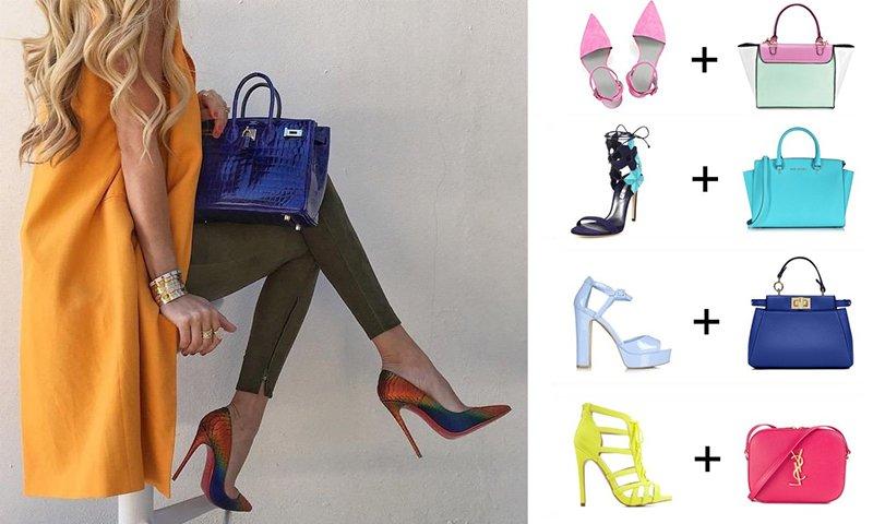 сочетание сумки и обуви