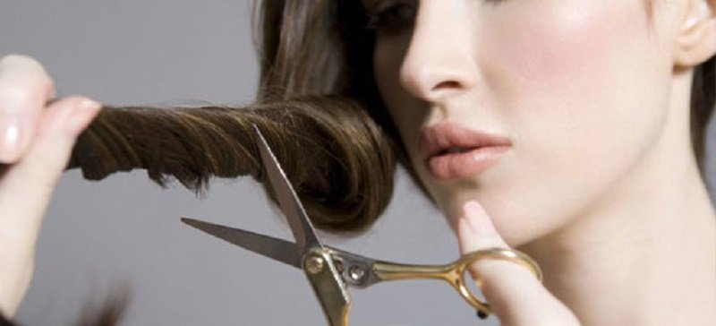 как подстричь волосы самой