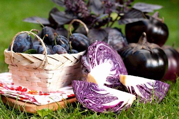 продукты фиолетового цвета