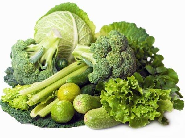 список продуктов зеленого цвета