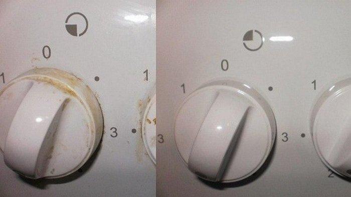 как очистить плиту народными средствами