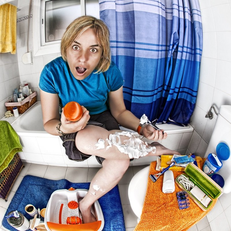 как брить ноги