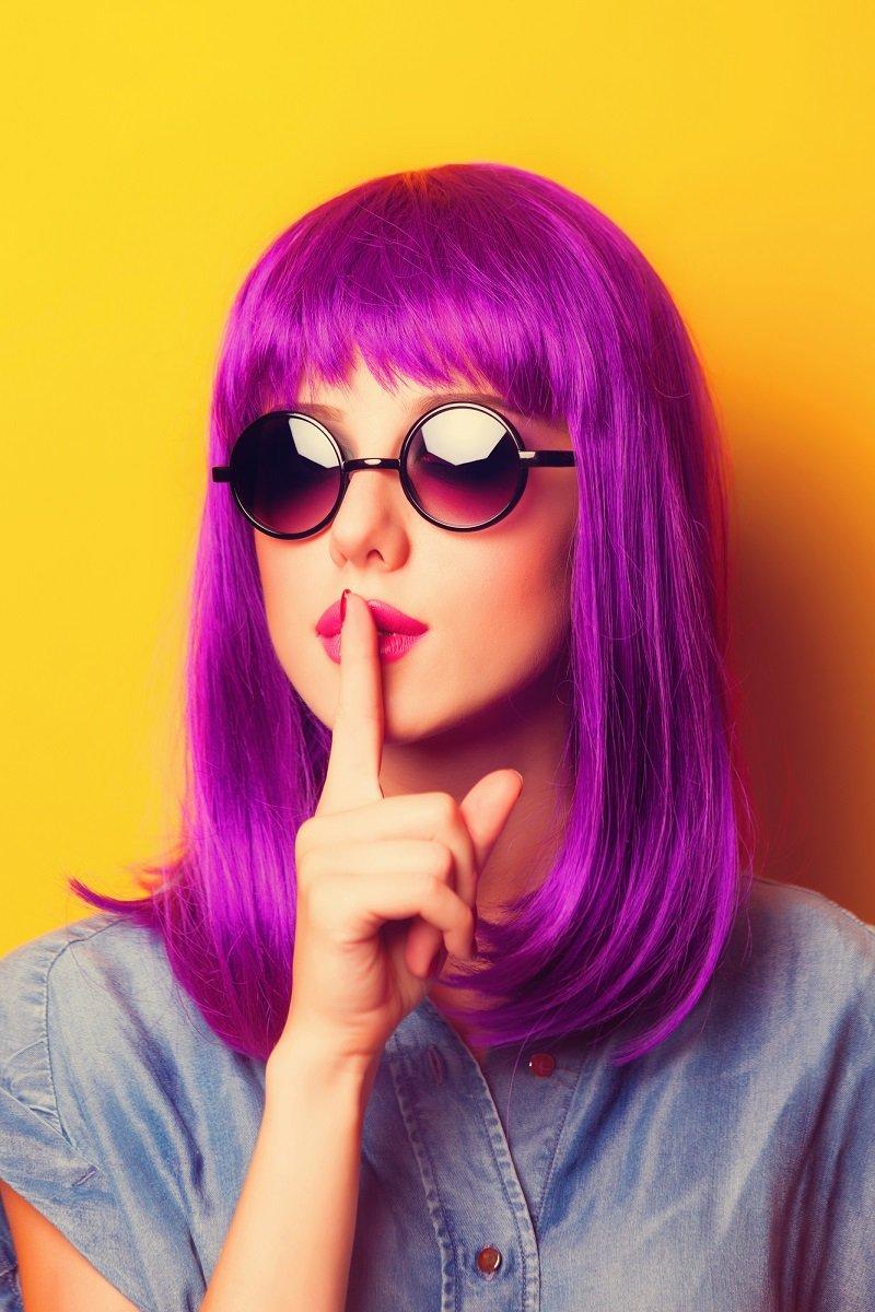 фиолетовые волосы кому идут