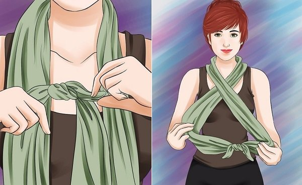 как завязать шарф арафатку