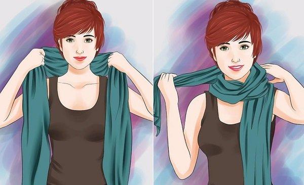 как завязать шарф на голову и шею