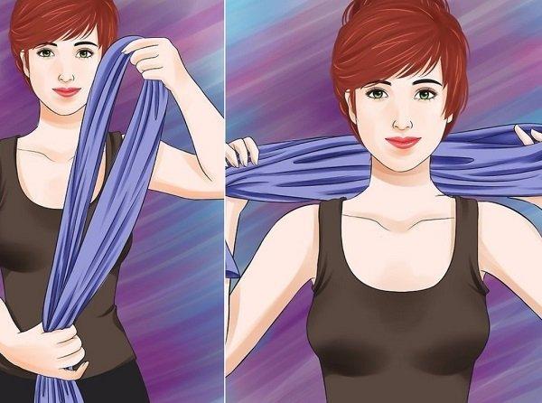 как завязать платок и шарф на голову