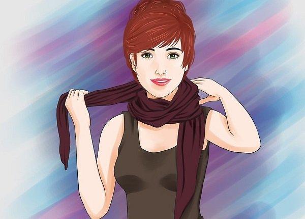 как завязать шарф на голову