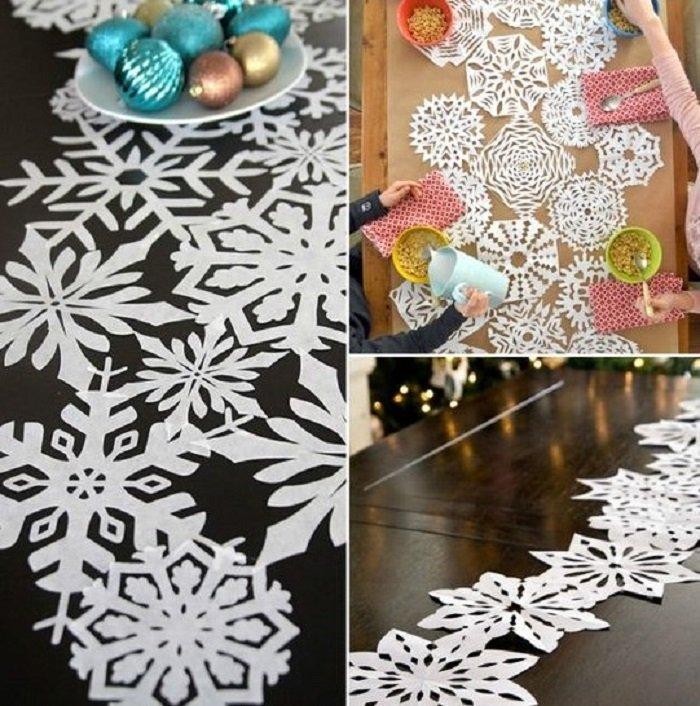 как сделать бумажные снежинки из бумаги