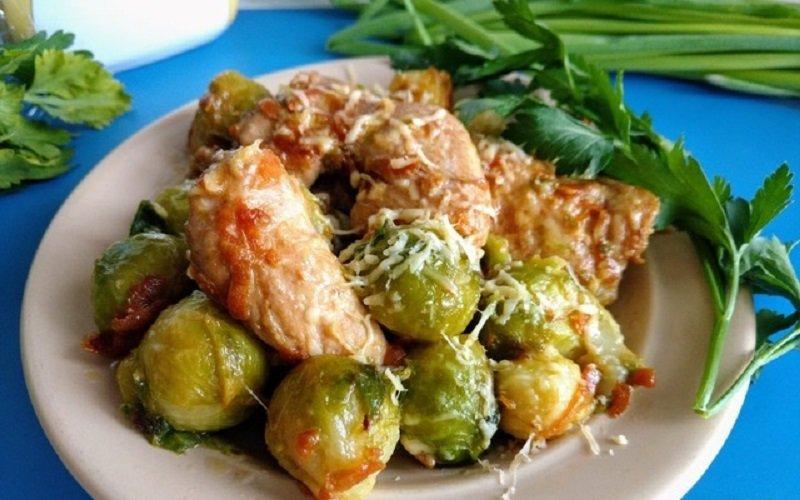 салат из брюссельской капусты