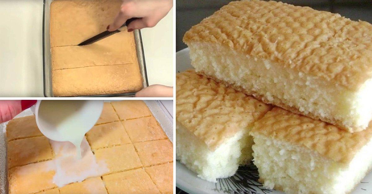 Как приготовить пирожное с молочной заливкой thumbnail