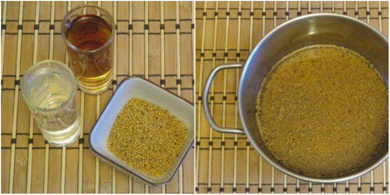 домашняя горчица в зернах