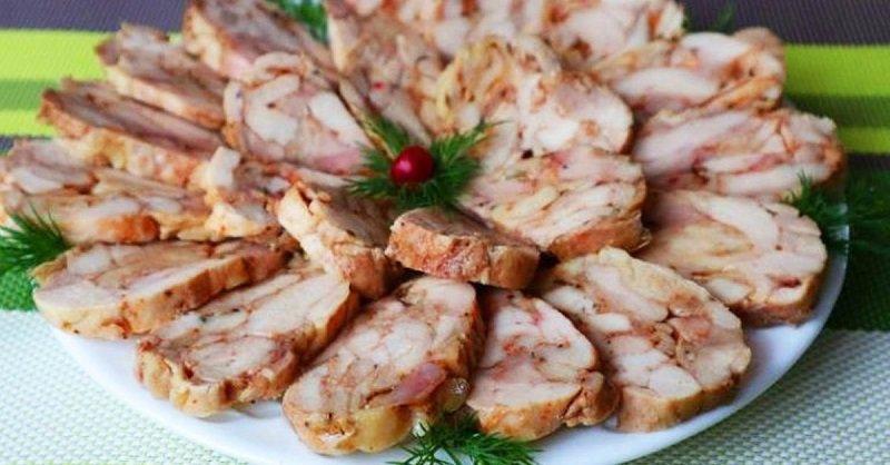 Рецепт ленивой колбасы из куриного филе