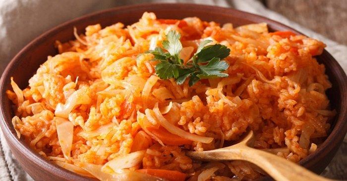 капуста с рисом