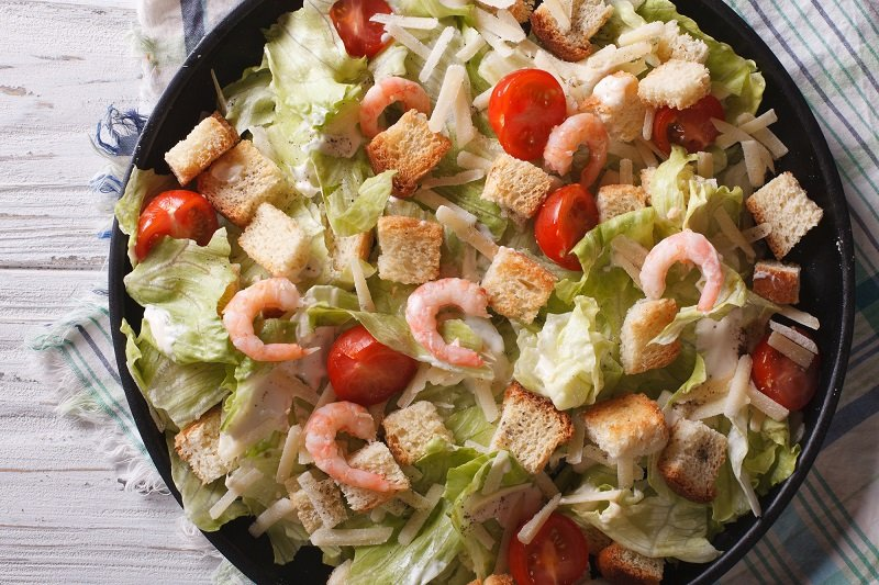 як готувати салат цезар будинку