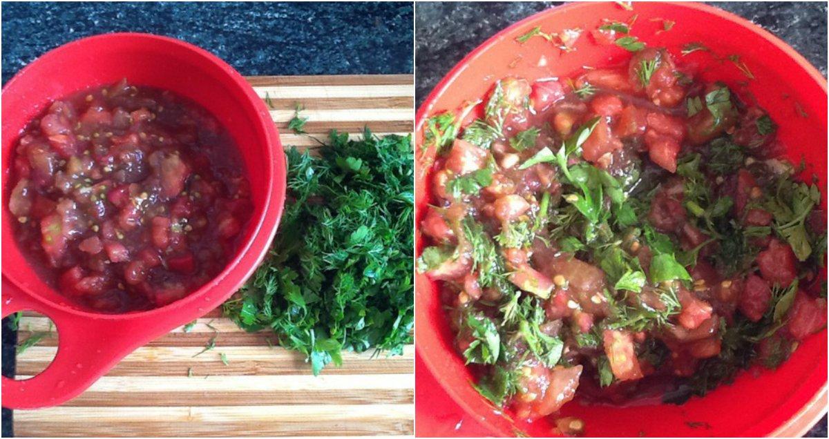 котлеты с помидором и зеленью
