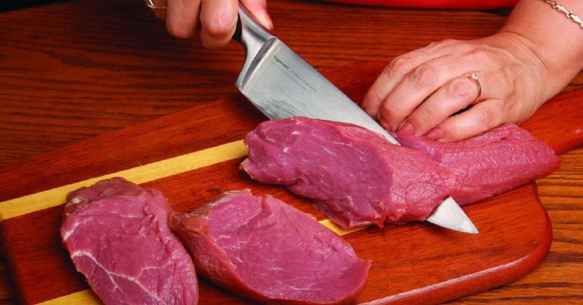 Как резать мясо говядину
