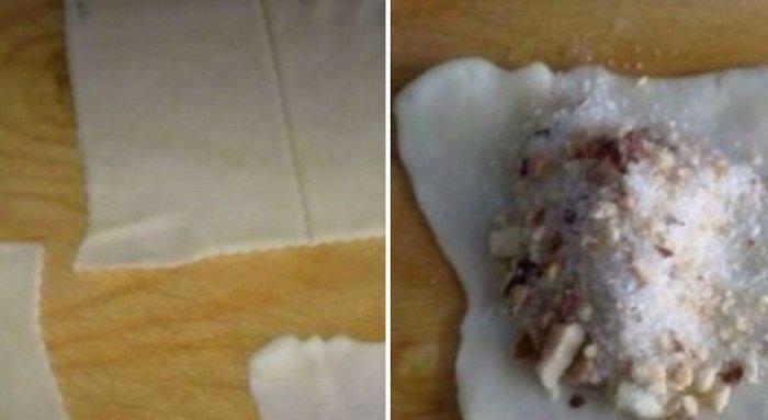 трубочки с орехами рецепт