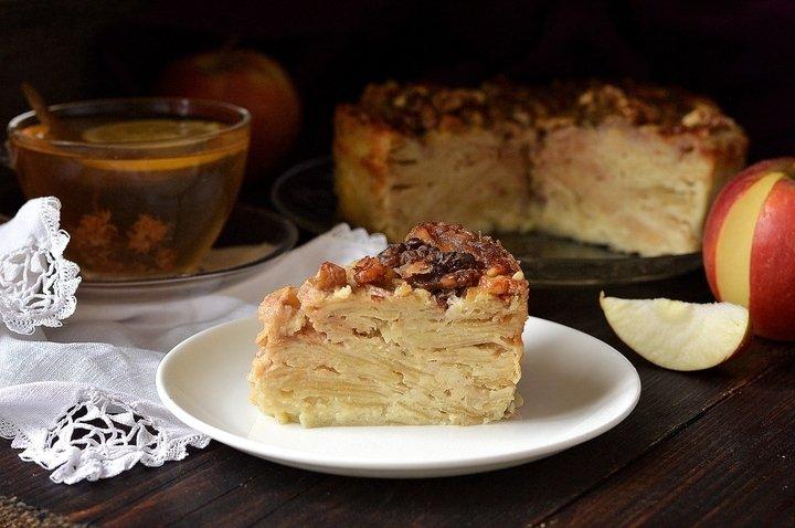 яблочный пирог на молоке