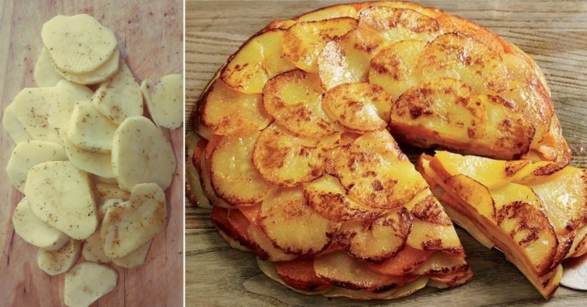 Рецепт многослойного пирога из картофеля thumbnail
