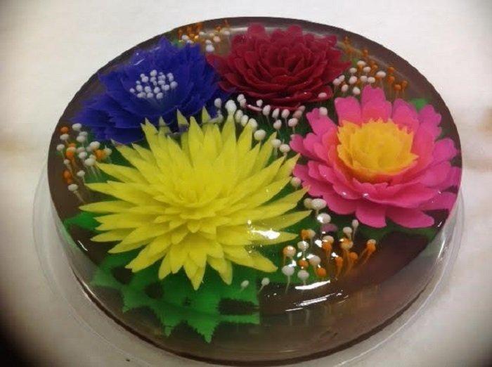 рецепт торта с желе и сметаной