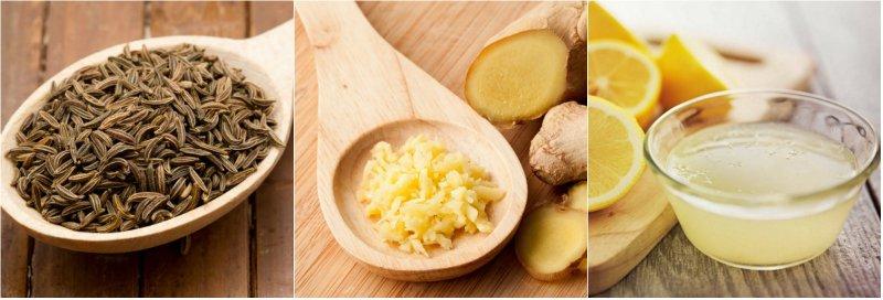 тмин, имбирь и лимон