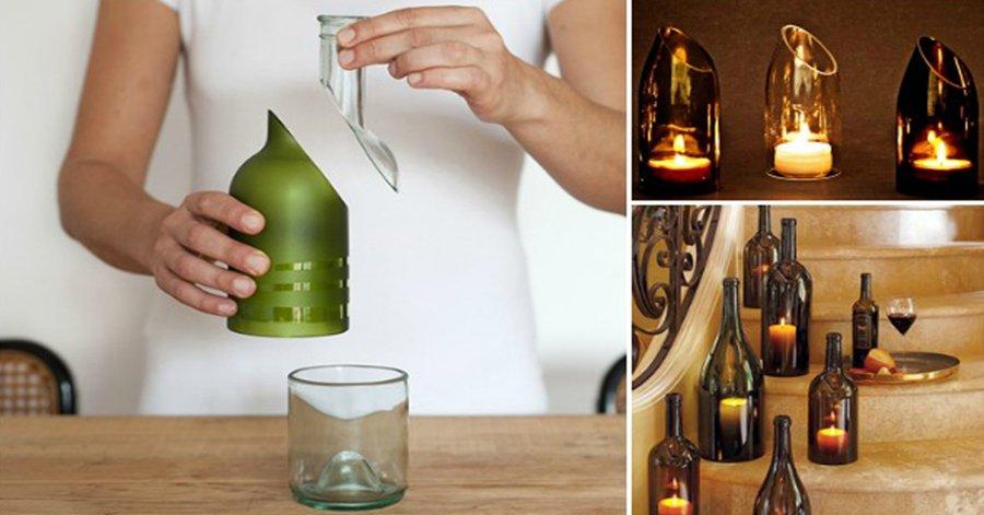 Обрезать стеклянную бутылку в домашних условиях 964