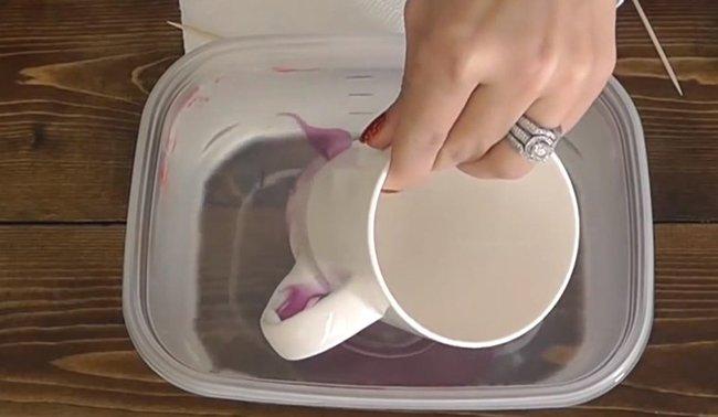 как разукрасить чашку