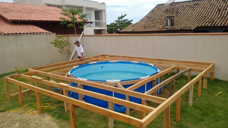 бассейн своими руками на даче