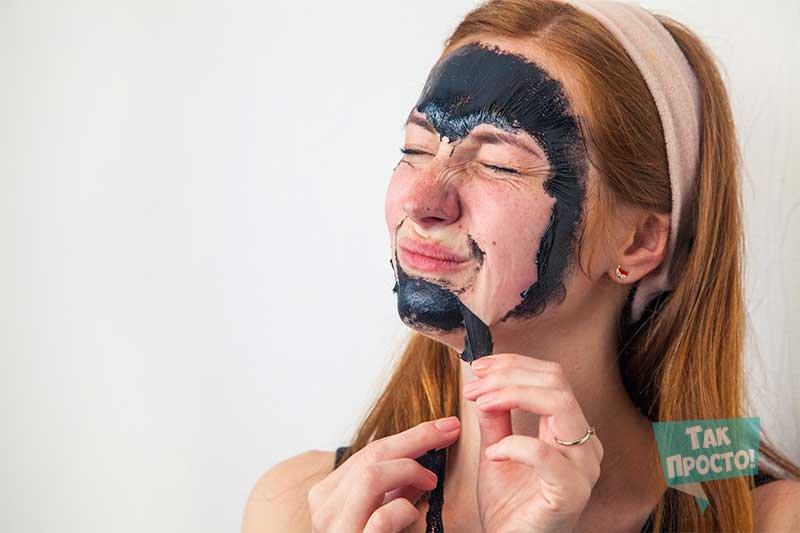 как делать черную маску для носа