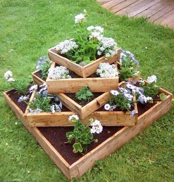 čo možno urobiť z paliet na záhrade
