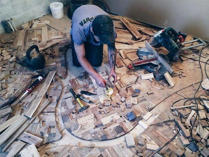 деревянный пол своими руками