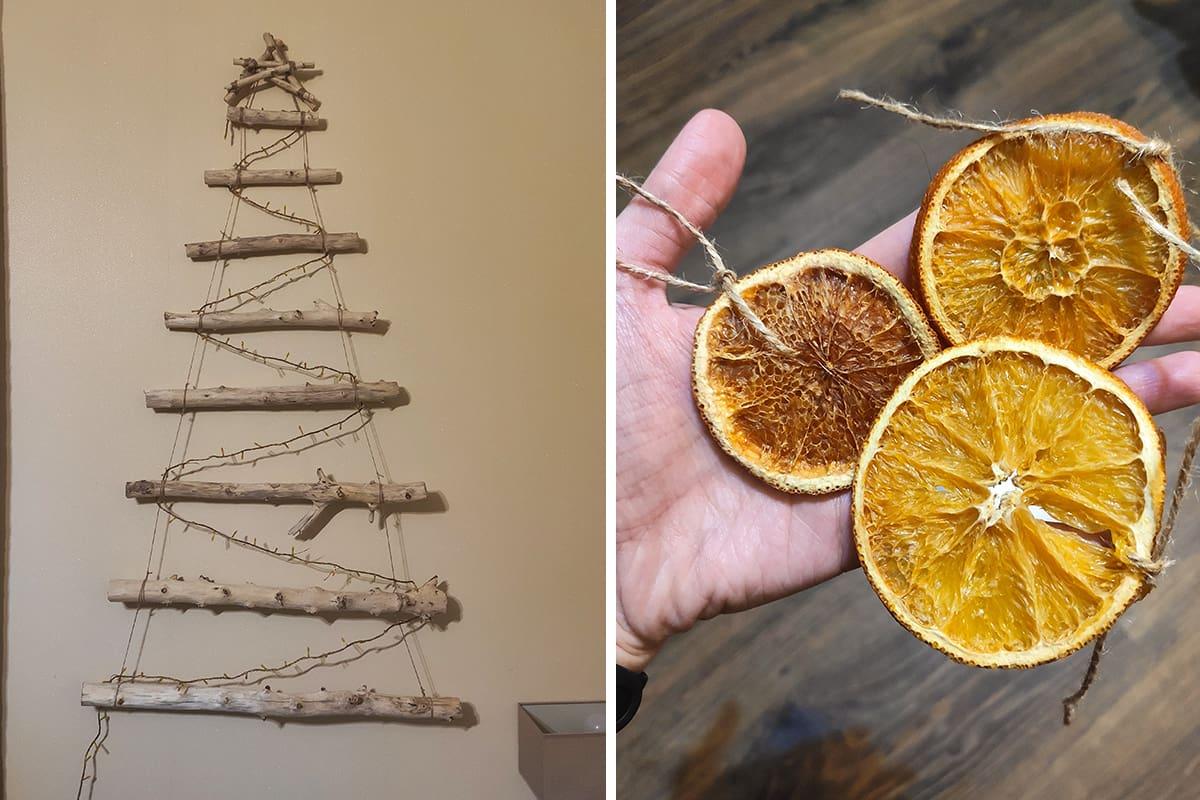 Волшебная идея пожилой соседки, что заменяет новогоднюю елку ветками Вдохновение,Советы,Апельсины,Дерево,Елки,Идеи,Лайфхаки,Праздники,Рукоделие