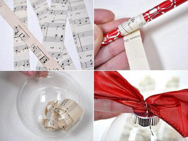 как сделать елочную игрушку из ниток