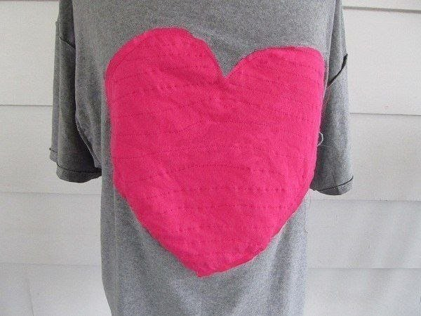 футболка с сердцем