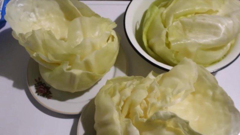 голубцы с картошкой в сметанном соусе