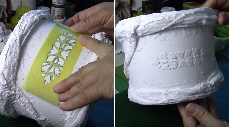 декор горшка для цветов своими руками