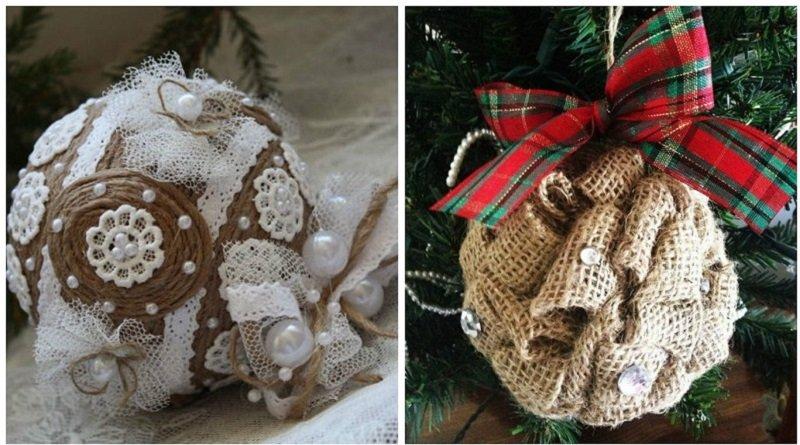 как сделать новогоднюю игрушку на большую елку