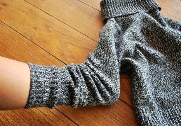 изготовление носков из свитера