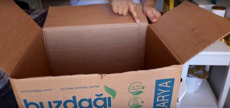 как сделать корзину из картона