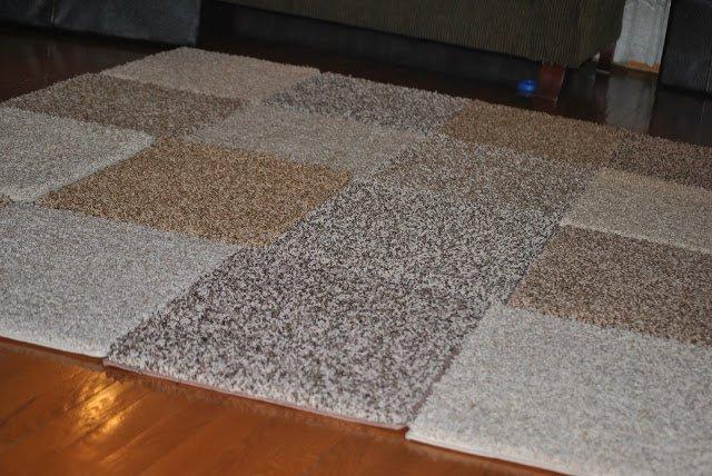 коврик из обрезков