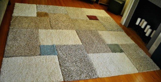 коврик из старых ковров