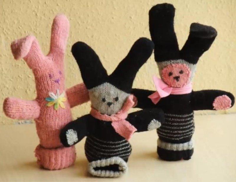 игрушка из перчатки как сделать