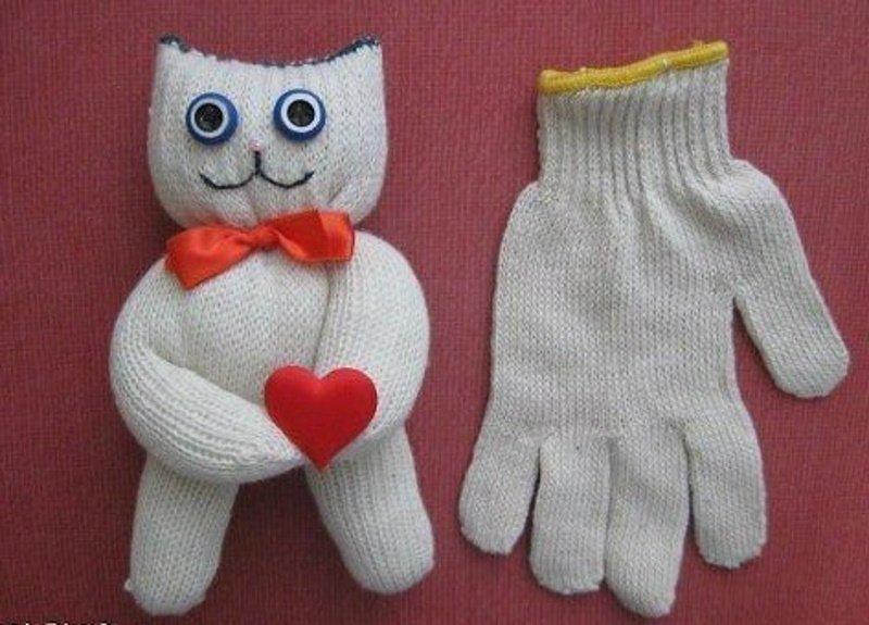 мягкая игрушка из перчатки