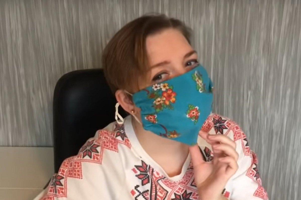 як зробити медичну маску з марлі